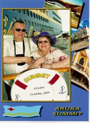 Daniel et Micheline - escale Aruba - 12 avril 2004