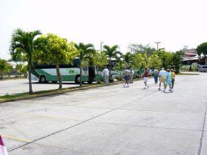 Les autobus qui nous ramènent au train