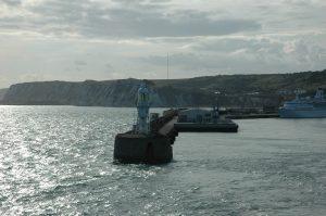 On quitte le Port de Douvres (Dover) Angleterre
