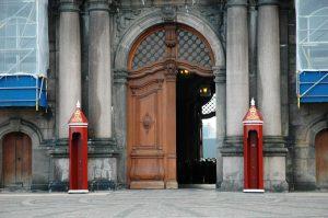 entrée du palais danois de christiansborg