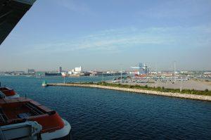 L'arrivée au port