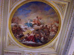 Magnifique peinture au plafond