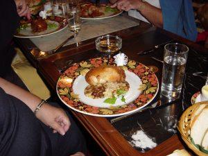 Notre repas du diner au restaurant : Le poulet à la Kiev
