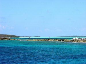L'eau turquoise