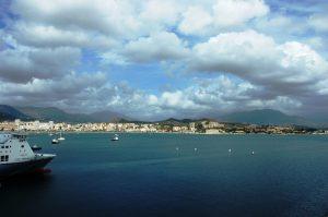 La ville vue depuis le navire