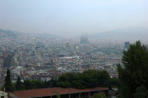 Le smog sur Barcelone