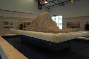 La maquette du Rocher au port