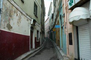 Les rues étroites de la ville