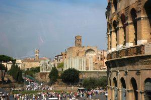 La foule près du Colisée