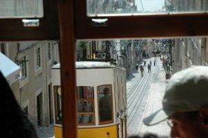 Tramway vu depuis un tramway