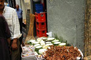 La vente d'aliments dans la Médina
