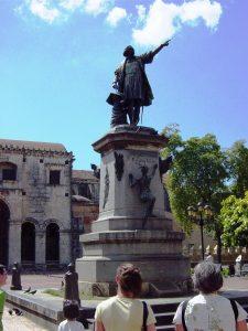 La statue de Christophe Colomb
