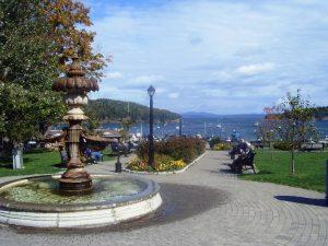 Le parc avec vue sur la Baie