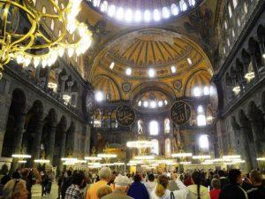 Intérieur de la Hagia Sophia