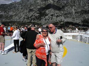 Daniel et Micheline sur l'helipad