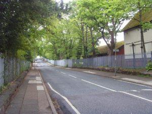 Penny Lane dans sa partie la plus éloignée de la ville
