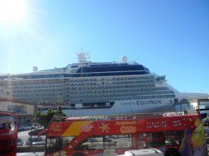 Le bateau ammaré a Cadix
