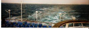 Vue de Freeport depuis l'arrière du bateau
