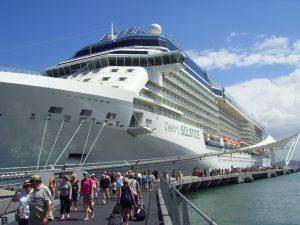 Le débarquement pour la visite