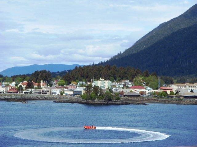 Sitka vue du bateau