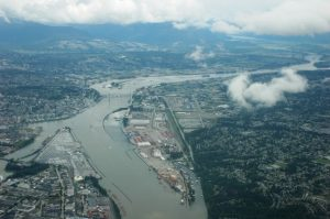 Vancouver vue de l'avion