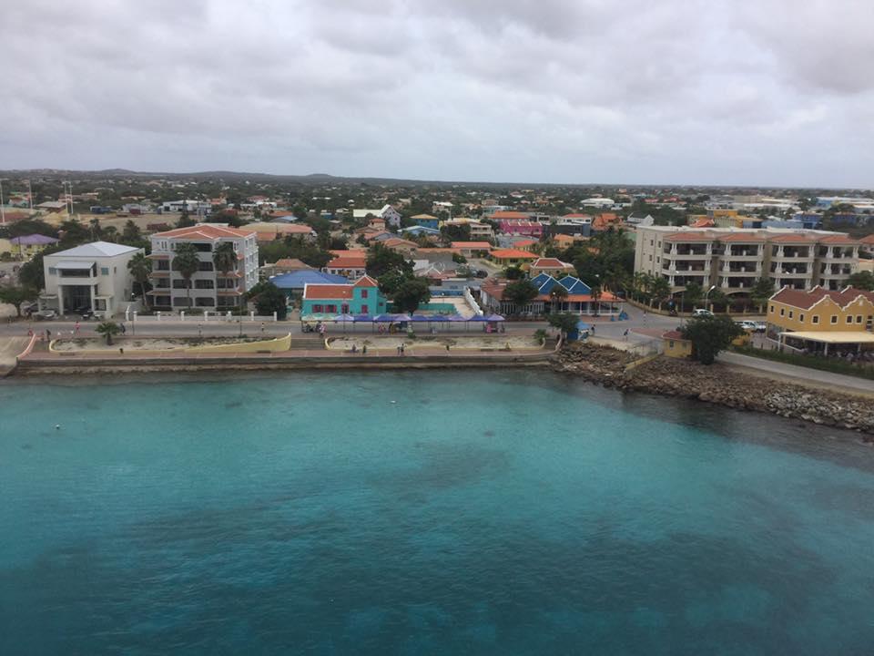Bonaire vue du bateau