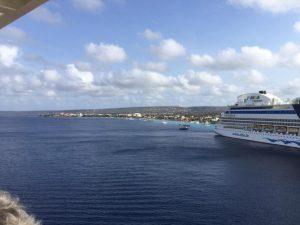 Arrivée a Bonaire vue du bateau